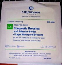 Meridian Medical Composite Dressing w/ Adhesive Border 4-layer Waterproof 19-6x6