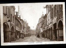 LOUHANS (71) ATTELAGE au BAR-RESTAURANT & BUREAU de TABAC animé période 1920