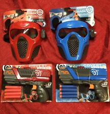 Red & Blue Rival Face Tactical & 2 Dart Gun Toy For Nerf & 10 Team Bullets