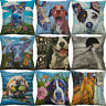 "18"" Dog animal Printing Cotton linen Pillow Case Home Decor Cushion Cover"