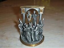 First Station Of The Stations Of The Cross Franklin Mint Fine Pewter Sculpture