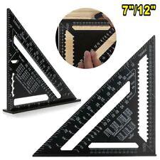 "7""/12"" Triangle Ruler Aluminum Alloy Professional Protractor Measuring Tool"