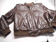 Vintage Members Only Mens Sz 44 Brown Leather Jacket