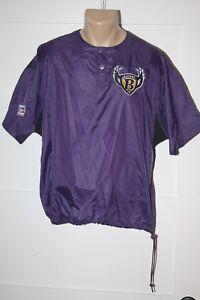 BALTIMORE RAVENS Original Starter Football Warm-up Nylon Short Sleeved Large