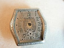 Illinois Mate 14K White Gold Filled Wristwatch for Restoration