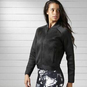 Reebok Veste Classique Femmes Noir Manches Longues Bomper Vêtements de Sport