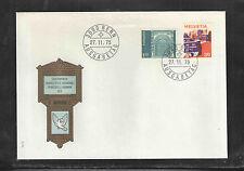 1975 SWITZERLAND SCOTT # 563 / 570 UNADDRESSED FIRST DAY COVER