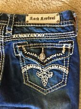 Rock Revival Buckle Exclusive Jenna Raw Cut Jeans Size 31