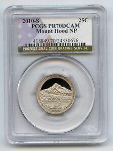 2010 S 25C Clad Mount Hood Quarter PCGS PR70DCAM