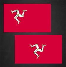 2 Isle of Man Flag Decals Stickers