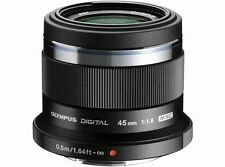 Olympus M.ZUIKO DIGITAL 45mm F1.8 Lens Black  Japan Domestic Version New