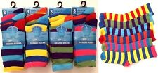 6 or 12 Pairs Childrens Boys Girls Coloured Funky Designs Socks All Sizes 4-6 6