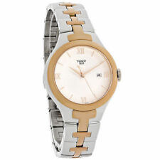 NEW Tissot T082.210.22.038.00 T-12 Ladies White Dial Two Tone Swiss Quartz Watch