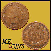 1880 Indian Head Cent Penny , Circulated , US Coin