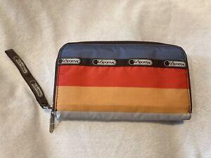 Lesportsac Wristlet Wallet Zip Around Bold Stripes