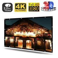 120'' Projector Screen 16:9 HD Home Cinema In/Outdoor Movie Projection Foldable