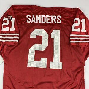 VTG 90s San Francisco SF 49ers Deion Sanders Wilson NFL Football Jersey 2XL XXL