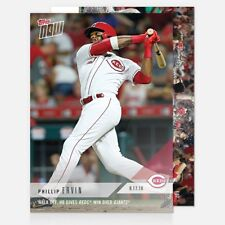 2018 TOPPS NOW #607 WALK OFF HR GIVES REDS WIN OVER GIANTS PHILLIP ERVIN