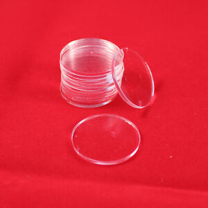 ROUND (CIRCLE) 100mm TRANSPARENT / CLEAR ACRYLIC BASES for Roleplay Miniatures