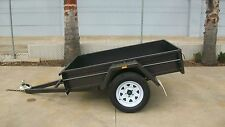 "6 x 4 L/D 12""sides Checker Plate Floor Trailer"