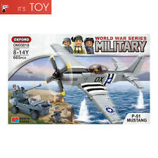 Oxford Block P-51 MUSTANG OM33018 World War Series Military Brick Building Toy