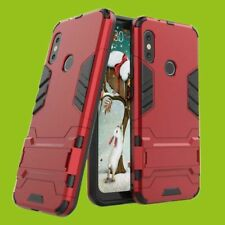 Pour Xiaomi mi A2 Lite Métal Style Extérieur Rouge Étui Housse COQUE