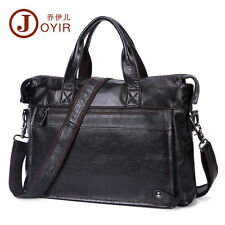 Genuine Leather Men Laptop Briefcase Attache Messenger Shoulder Portfolio Bag