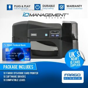 Fargo DTC4500e Single-Sided ID Card Printer • Ships Worldwide • 5000+ Sold