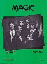 Dragon-Magic-1983 Sheet Music-Original Australian issue-Rare!