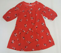 NWT Old Navy Kids Girls M 8 or L 10-12 Red Flower Dress