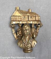 Antique Brass Doorknocker of Robert Burns