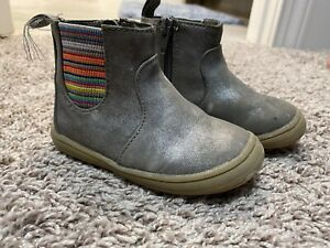 Silver Gray Booties, Cat & Jack Size 6 Toddler Girl