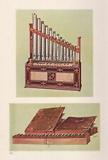 Impression vintage instruments de musique portable Organ and Bible Regal