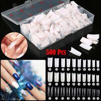 500 Pcs French Acrylic Fake Nail Tips Artificial False Nails Half Tips Natural