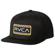 RVCA Indus  Mens Snapback Hat (NEW) Five 5 Panel VA Cap BLACK Ruca FREE SHIPPING