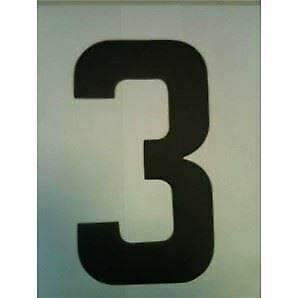 """9"""" Standard Style Race Number No.3 in Black Sold Each"""