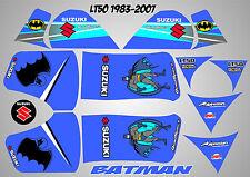 suzuki lt50 quad graphique autocollants lt 50 stratifié batman bleu lt 50