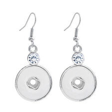 Women Fashion Stainless Steel Earrings Ginger Snap Style 18MM Diy Snap Jewelry