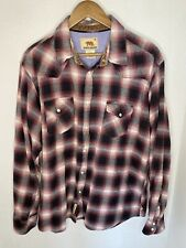 DAKOTA GRIZZLY Mens 2XL Plaid Long Sleeve Pearl Snap Button Up Flannel Shirt
