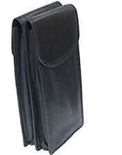 Double Spectacle Glasses Case Holder and Glass Cleaning Cloth Black - 771