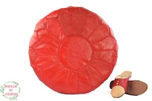 Leather ottoman Moroccan poufs for living room Pouf for sitting Meditation poufs