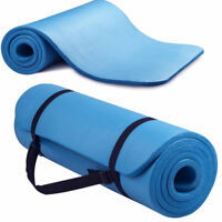 EXTRA THICK FOAM EXERCISE Yoga Mat Gym Workout Fitness Pilates Pad Carrying Stra