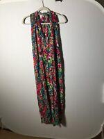 Nancy King Australian Designer Silk Crepe Beaded Maxi Dress One Size 8-16 Womens