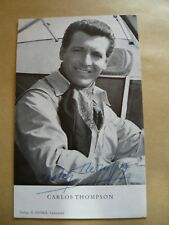 Carlos Thompson - Original-Autgramm auf Autogrammkarte