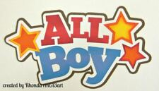 ALL BOY play title paper piecing Premade Scrapbook Pages albums cards by Rhonda