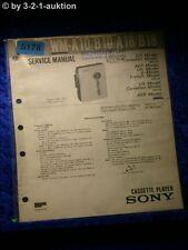Sony Service Manual WM A10 /B10 /A18 /B18 Cassette Player (#5178)