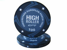 Blister da 25 fiches EPT HIGH ROLLER Replica poker Ceramica 10 gr. valore 100