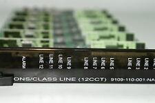 Mitel Ons / Class Line Card 9109-110-001-Na 12 (Cct) Sx200 3300 Hotel Single