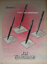 PUBLICITE DE 1959 STYLO JIF WATERMAN SUPER FLAIR PANTABILLE X'PEN FRENCH AD PEN