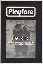 """Allen Ginsberg """"Kaddish"""" Playbill 1972 Chip Zien, Marilyn Chris"""